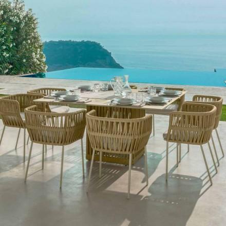 Tavolinë e jashtme katrore prej alumini Cliff Talenti 150 cm nga Palomba