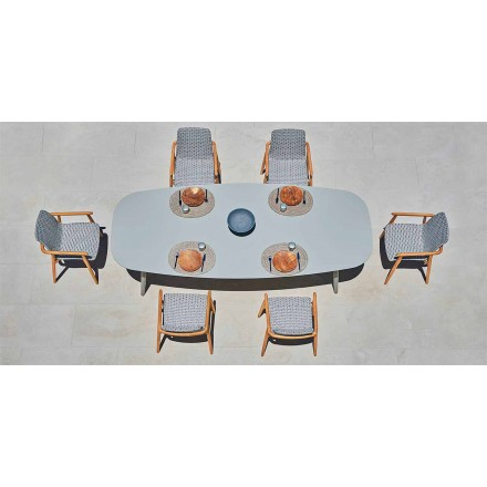 Dizajni tryezën në natyrë në alumini me ngjyrë Ellisse me Varaschin