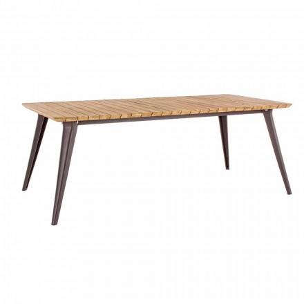 Tabela e kopshtit Teak druri i lartë dhe baza e aluminit Homemotion - Amabel
