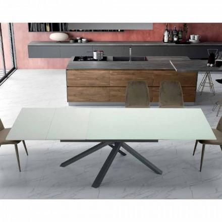 Tavolinë darke e zgjerueshme Deri në 260 cm në xham të dizajnit modern - Gabicce