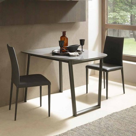 Tavolinë Darke e Zgjatshme Deri në 170 cm në Qeramikë Prodhuar në Itali - Tremiti