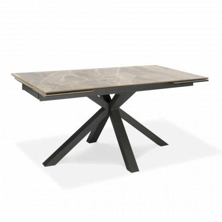 Tabela e darkës së zgjatur deri në 240 cm në metal dhe qeramikë - Laryssa