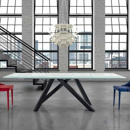 Tabela e ngrënies me xham të zgjatur deri në 300 cm Made in Italy - Settimmio