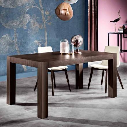 Tavolinë ngrënieje e shtrirë në dru melamine të bërë në Itali, Oky