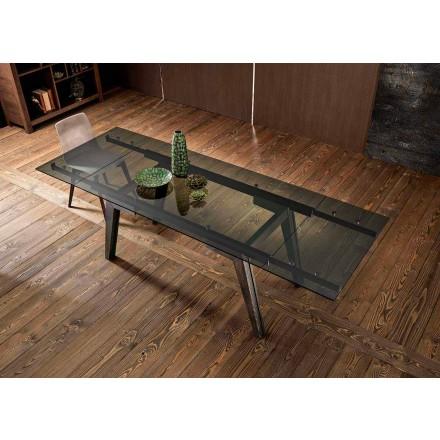Tavolinë ngrënieje e zgjatur në gotë fumè bërë në Itali, Dimitri