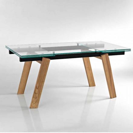 Tavolinë ngrënieje moderne e zgjatur në gotë e bërë në Itali, Azad