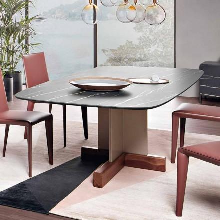 Tavolinë ngrënieje me majë qeramike Prodhuar në Itali - Tabela Kryqi Bonaldo