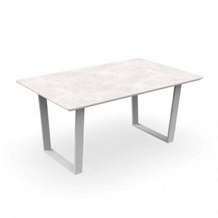 Tavolina e ngrënies moderne të kopshtit në alumin dhe gres - Alabama Alu Talenti