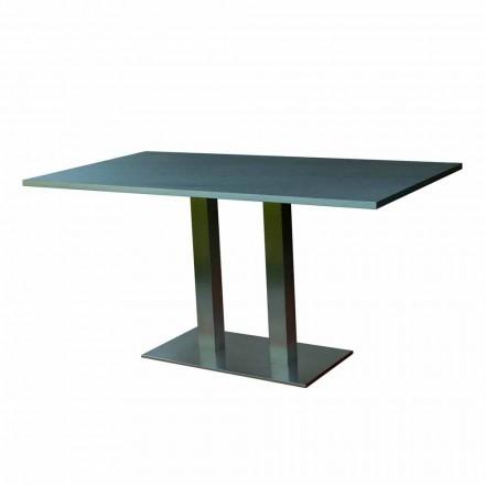 Dizajn tryezë ngrënieje me majë guri të laminuar, 160x90cm, Newman