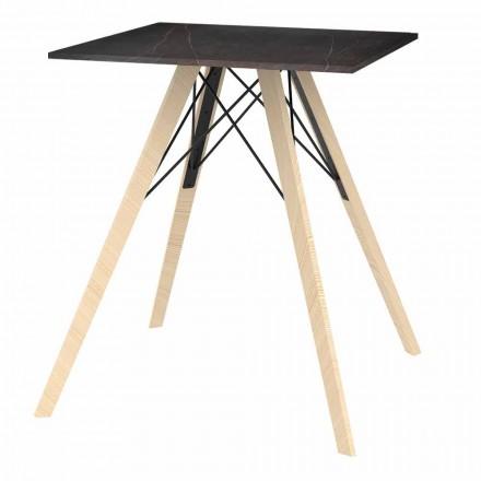 Dizajnoni tryezën e darkës në dru dhe sheshin Dekton 4 copë - Faz Wood nga Vondom