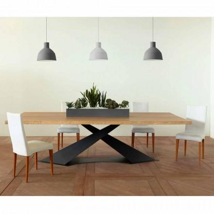 Tavolinë ngrënieje me dizajn modern me Elliot të bërë në Itali lisi i lisit