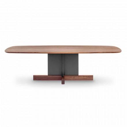 Dizajnoni tryezë darke me bazë të kryqëzuar prodhuar në Itali - Tabela kryq Bonaldo