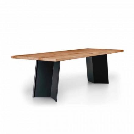 Dizajnoni tryezën e darkës me majën e lisit me nyje të prodhuar në Itali - Simeone