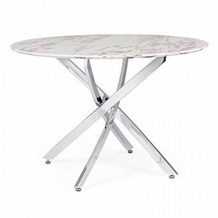 Dizajnoni tryezën e darkës me majën e rrumbullakët në Mdf Homemotion - Gregory