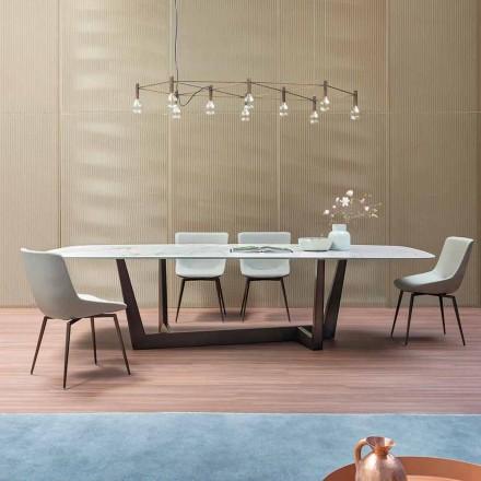 Tabela e Bronzit Qeramike dhe Dining Metalike Made in Italy - Art