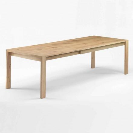 Tavolinë për ngrënie prej druri të zgjerueshme Deri në 340 cm Prodhuar në Itali - Shelg