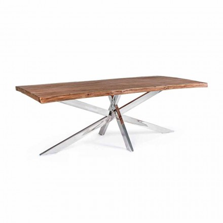 Tabela e darkës për dru dhe çelik inox Dizajn Homemotion - Kaily