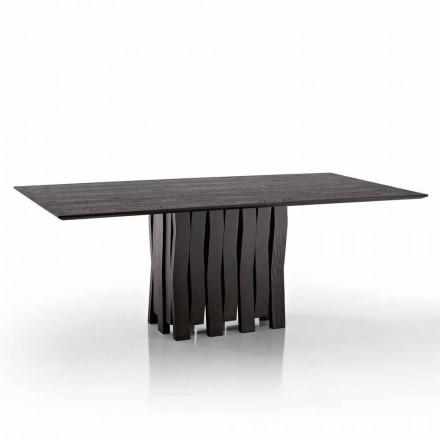 Dizajni tryezën e ngrënies në dru MDF të bërë në Itali, Egisto