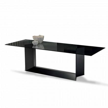 Tavolinë ngrënieje në qelqi të tymosur ose ekstra të ndertuar në Itali - Moro