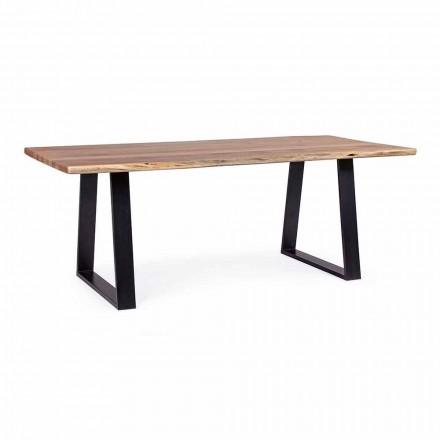 Tavolinë darke industriale Homemotion me dru akacie - Vermont