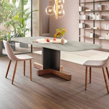 Tavolinë Dining Moderne me Top Mermeri Prodhuar në Itali - tryezë Bonaldo Cross