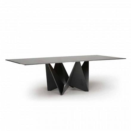 Tavolinë për darkë luksoze, xham i tymosur me tym të prodhuar në Itali - Makro