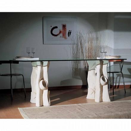 Tavolina ngrënie e bërë në Itali e bërë nga Daica me gur natyral Vicenza