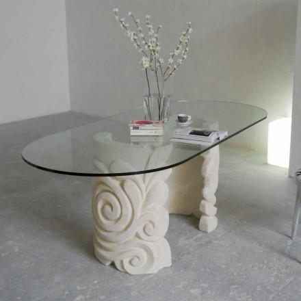 Tavolinë ngrënieje e modelit klasik e bërë nga guri natyror Vicenza Aden