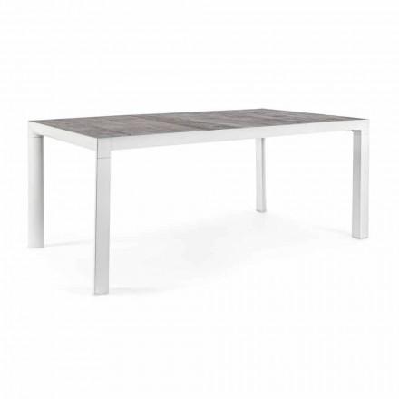 Tavolinë darke në natyrë me majë qeramike dhe bazë alumini - Jen