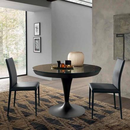 Tavolina e Rrumbullakët e Darkës në Laminam Qeramike Prodhuar në Itali - Lupetto