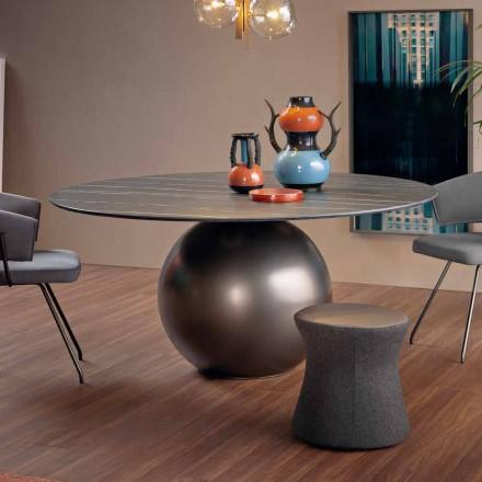 Tavolinë e rrumbullakët darke me bazë metalike prodhuar në Itali - Cirku Bonaldo