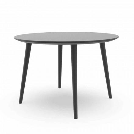 Tavolina e rrumbullakët e darkës në kopsht në alumin ose qymyr të bardhë - Sofy Talenti