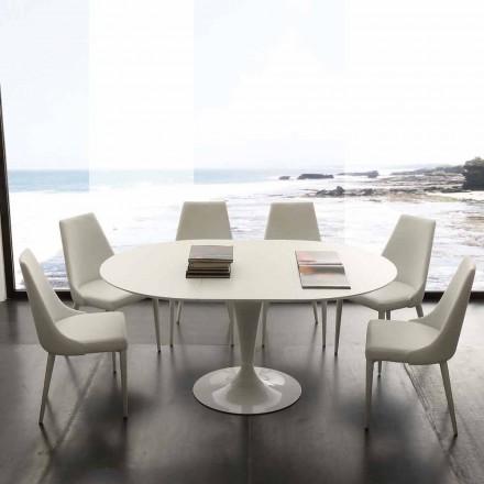 Tavolinë e rrumbullakët ngrënie e shtrirë deri në 170 cm Topeka, dizajn modern