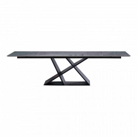 Tavolinë luksoze e zgjerueshme deri në 294 cm me majë gresi të prodhuar në Itali - Cirio