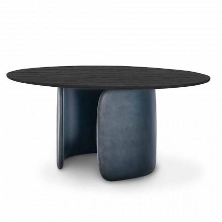 Tabela e Dizajnit me Maje të Rrumbullakët në Drurë të Ngurtë Prodhuar në Itali - Mellow Bonaldo