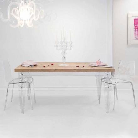 Tabela e projektimit në dru bredhi dhe pleksiglas, prodhuar në Itali, Castro