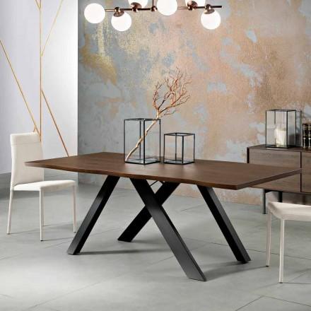 Dizajni tryezë e ngurtë druri e bërë në Itali, Wilmer