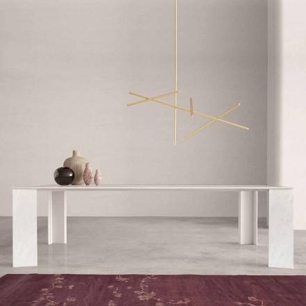 Tabela e Dizajnit në Namibia Mermeri i Bardhë i bërë në Itali, 210x110 cm - Monastero