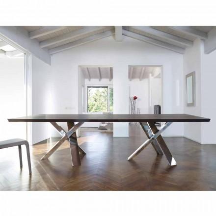 Tabela prej druri me dizajn modern 270x120 cm e bërë në Italia Pema