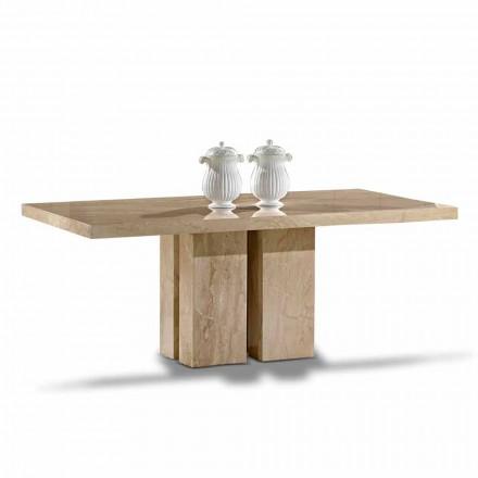 Tabela luksoze me dizajn modern, Top në mermerin Daino Made in Italy - Zarino