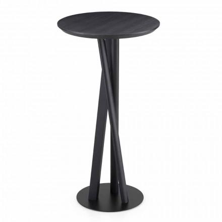 Tavolinë e ngurtë hiri dhe metali me majë të rrumbullakët prodhuar në Itali - Baden
