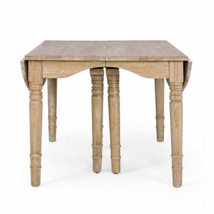 Tavolinë klasike në dru të ngurtë që zgjatet deri në 382 cm Homemotion - Brindisi