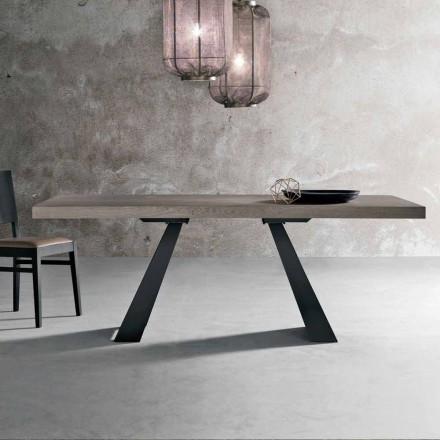 Tavolinë moderne në dru lisi të thurur të bërë në Itali, Zerba