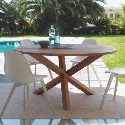 Tavolinë ngrënieje e rrumbullakët në natyrë e bërë nga druri i sofrës Ura nga Talenti