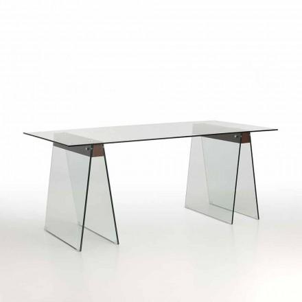 Dizajn modern Tavolina e jetesës me majë xhami dhe bazë qelqi - Lozanë