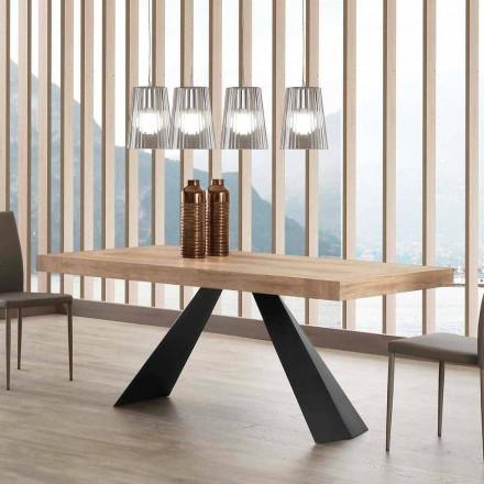 Tavolinë moderne e zgjerueshme Deri në 260/280 cm në dru dhe metal - Teramo