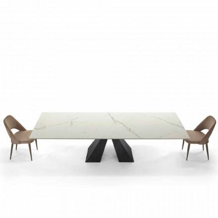 Tabela Moderne e Zgjerueshme deri në 300 cm në Mermer Made in Italy - Dalmata