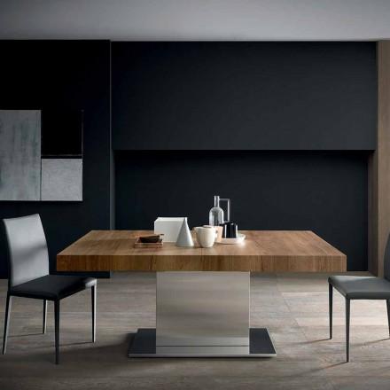 Tavolinë moderne e zgjerueshme Deri në 480 cm në dru të bërë në Itali - Michael