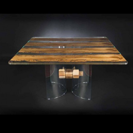 Tabela moderne prej druri dhe qelqi Venezia, e dizajnuar