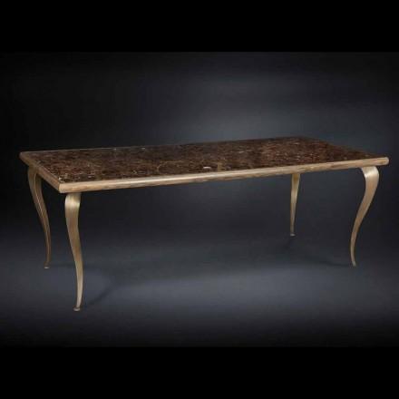 Tabela drejtkëndëshe Adam, dru i ngurtë dhe mermer, Dizajn neoklasik